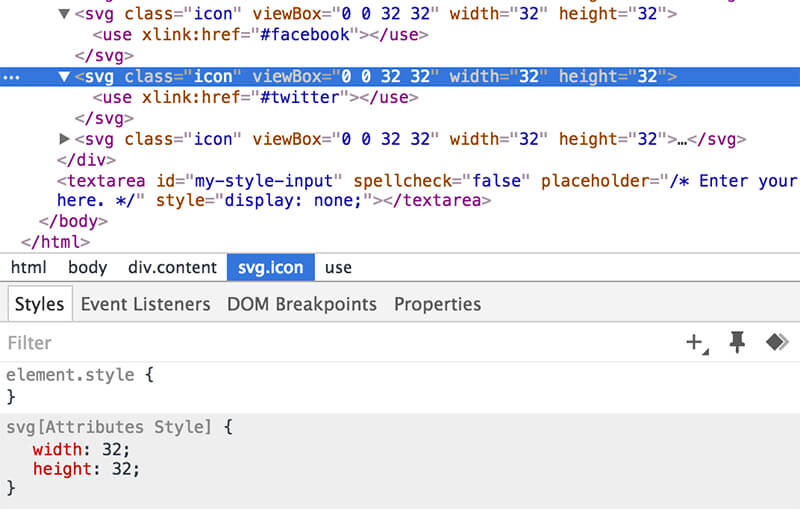 Unstyled SVGs Default width as in Chrome dev tools